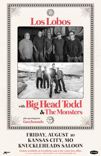 Big Head Todd / Los Lobos Knux admat 2018