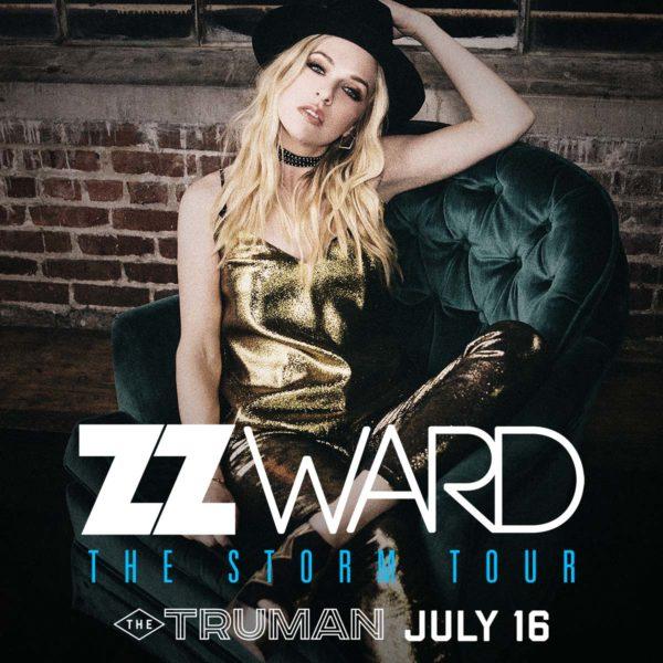 ZZ Ward The Storm Tour 2018 admat