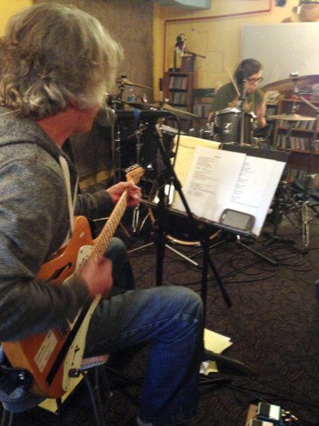 Pat Tomek at Largely Studios with Bob Walkenhorst | Photo: Whitney Thouvenelle